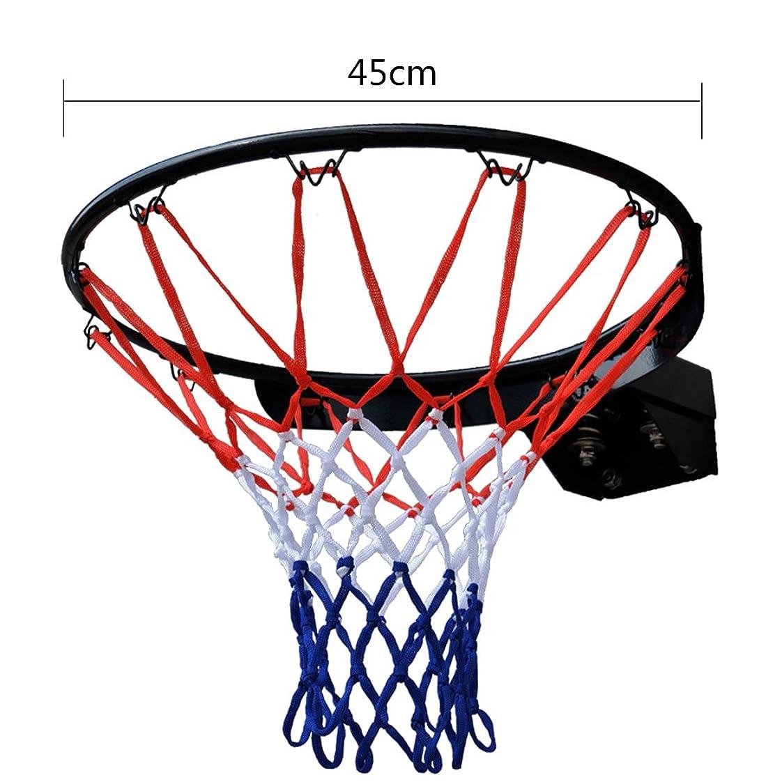 小競り合い目的変わるIKENOKOI バスケットゴール バスケットリング ネット付き セット 内径45cm 公式サイズ