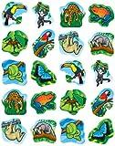 Carson Dellosa Rainforest Animals Shape Stickers (5267)