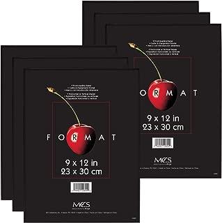 MCS 9x12 Inch Format Frame 6-Pack, Black (65645)