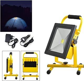 Pescado Patio Hengda/® 10W Blanco fr/ío LED Foco proyector Recargable del Jard/ín al Aire Libre Luz Protector Port/átil Camping Terraza
