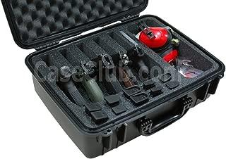 Case Club Waterproof 5 Pistol Case & Accessory Pocket with Silica Gel to Help Prevent Gun Rust