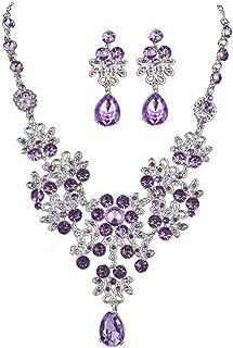 Aisoway 1 Hoja De Conjunto Collar Y Pendientes Forma De Hojas De La Cadena Collar Colgante Conjunto Gargantilla Stud Boutique Kit para Mujeres Joyas
