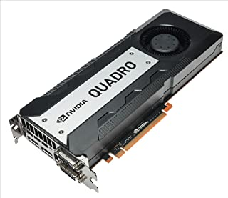HP C2J96AA Quadro K6000 12GB GDDR5 - Tarjeta gráfica (NVIDIA, Quadro K6000, 3840 x 2160 Pixeles, 12 GB, GDDR5, 384 bit)