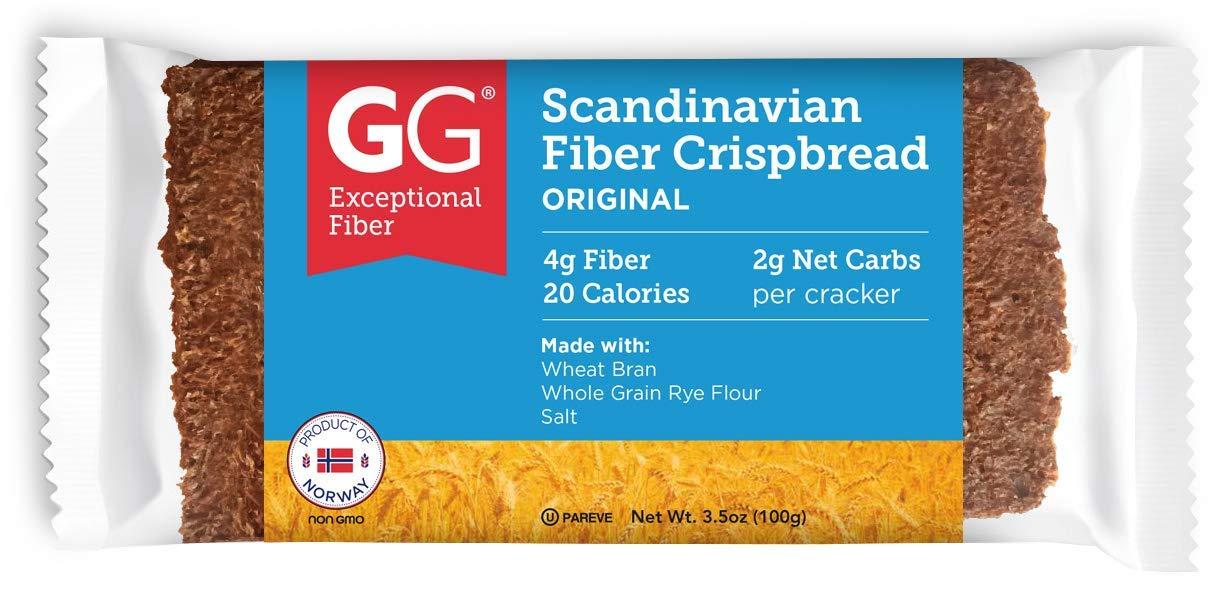 El Paso Mall GG Scandinavian Bran Crispbread All Natural shop Cracker Package