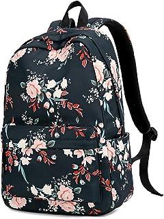 New Spring Simple Schoolbag, Plant Flower Pattern Large Capacity Comfortable Save Effort Backpack, 13-18 Girl School Textbook Waterproof Schoolbag,B
