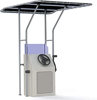 Oceansouth Boat T Top, Boat T-Top, Black, Standard Center Console Boat T-Top,Aluminum Tube Large