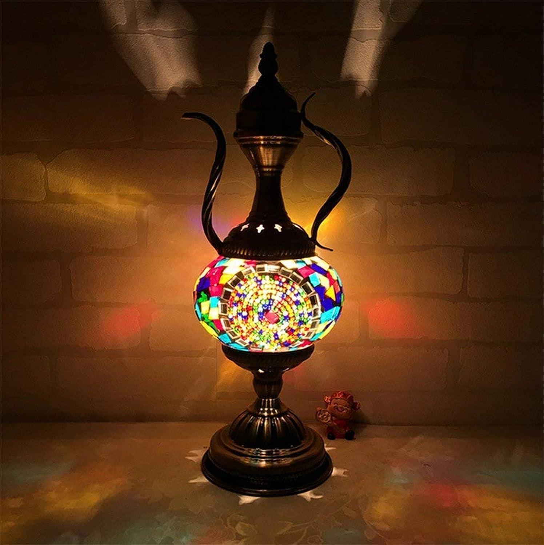 Yhongyang Einzigartiges Haus Türkischer Lampe Marokkanischen Osmanischen Stil Mosaik Handgefertigte Teekanne Form Tisch Light Bedroom Restaurant Cafe Dekorations Lampe