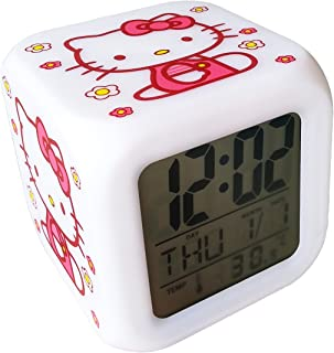 f23680efb Abovehill Hello Kitty Digital Alarm Clock,7 Colors Display, 8 Kinds of  Alarm Music