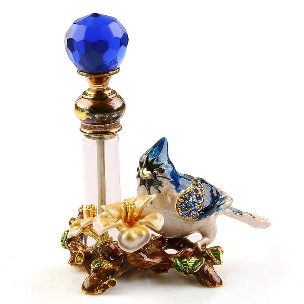 花輪実現可能性歌VERY100 高品質 美しい香水瓶 4ML アロマボトル 綺麗アンティーク風 鳥と花 詰替用ボトル 空き プレゼント 結婚式 飾り