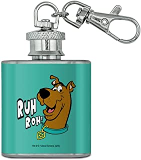 Scooby-Doo Ruh Roh Stainless Steel 1oz Mini Flask Key Chain
