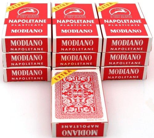 ludomax Zehnerpaket Napoletane Spielkarten, SUPER von Modiano - Scopa / Briscola
