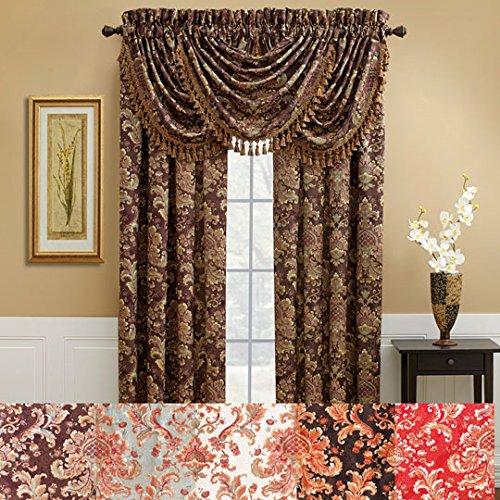 CROSCILL Serafina Curtain Red - 84'
