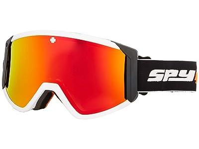 Spy Optic Raider (Fireball Hd Bronze w/ Red Spectra Mirror + Hd Ll Persimmon) Snow Goggles