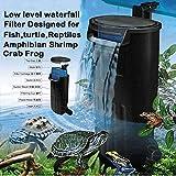 GCSEY Acquario Turtle Filtro Pompa dell'Acqua Filtrazione Biologica Adatto per Reptile Serbatoio Livello Cascata Bassa Filtro