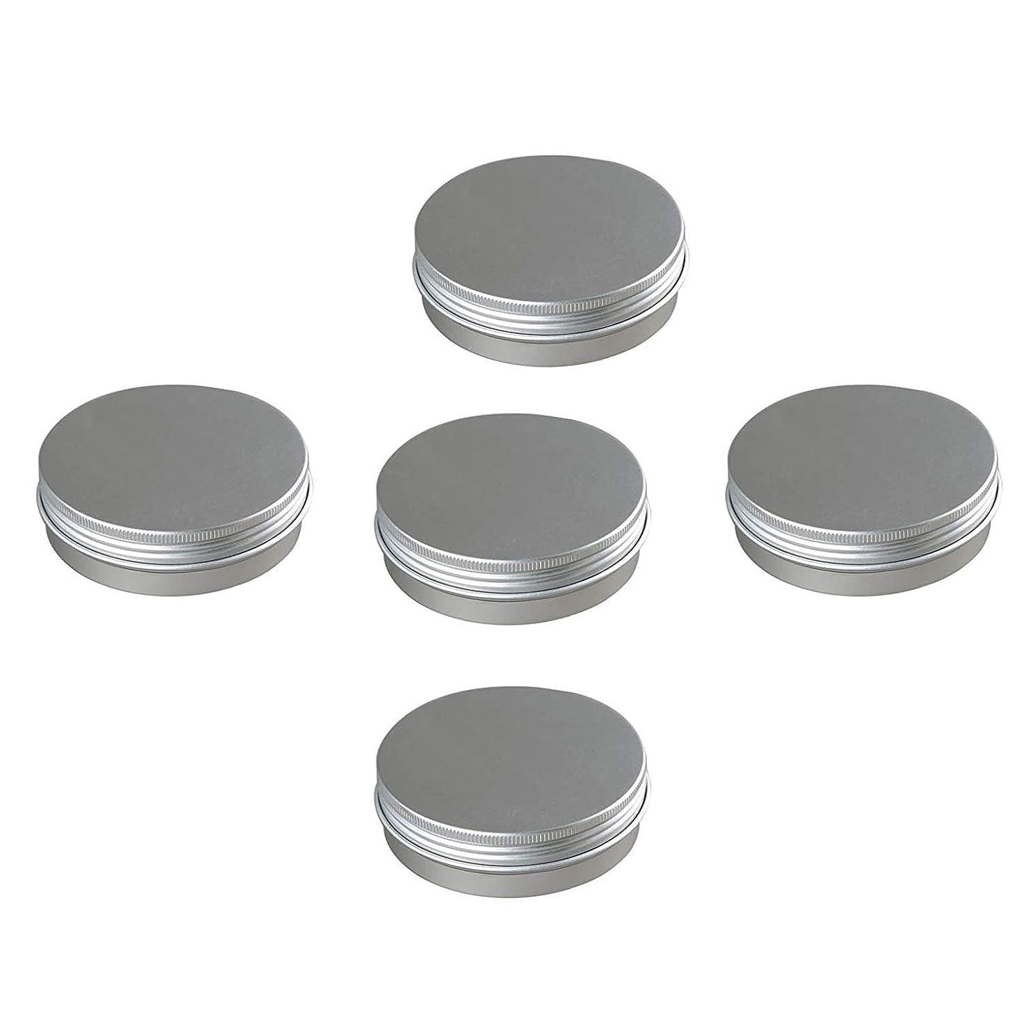 北家過剰5個入りセット 100g 化粧品用 詰め替えボトル アルミ製 小分け容器 化粧品 携帯用 収納 旅行用品