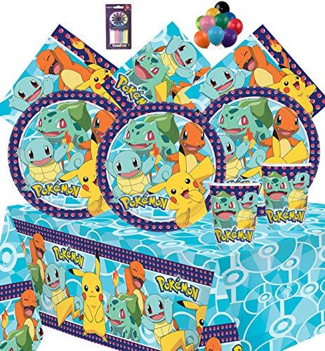 PJ Masken Party Geschirr Kindergeburtstag Party Kit für 8, 16, 24, 32 - Free Plain Ballons und Kerzen