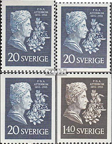 Sverige Mi.-nummer: 411C, göra, du-412C (komplett. utgåva) 1955 P. D. A. Atterbom (frimärken för samlare)