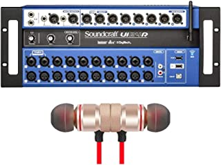 Soundcraft Ui24R 24-channel Digital Mixer/USB Multi-Track Recorder includes Free Wireless Earbuds - Stereo Bluetooth In-ear Earphones