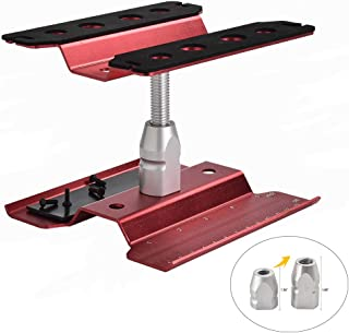 XPURC Rc car Stand Repair Workstation Aluminum Alloy 360 Degree Rotation Lift Or Lower for Rc car 1/12 1/10 1/8 (Red)