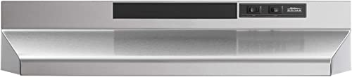 Broan-NuTone F403004 Insert with Light, Exhaust Fan for Under Cabinet Two-Speed Four-Way Convertible Range Hood, 30-I...