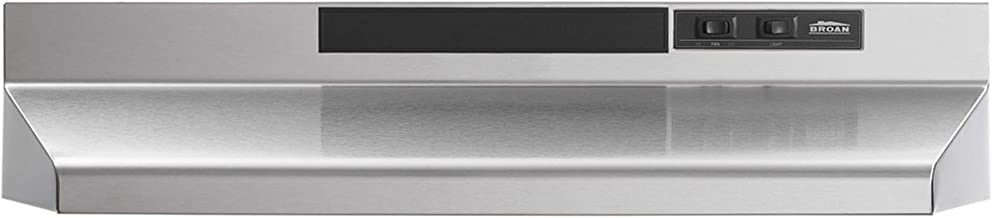Broan-NuTone F403004 Two-Speed Four-Way Convertible Range Hood, 30-Inch, Stainless Steel