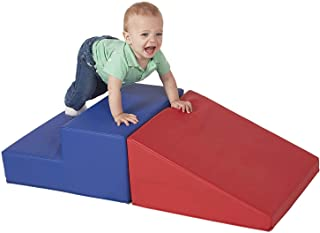 Baby Kids Toddler Large Soft Block Playset Step n Slide Beginner Foam Play Structure 2pcs