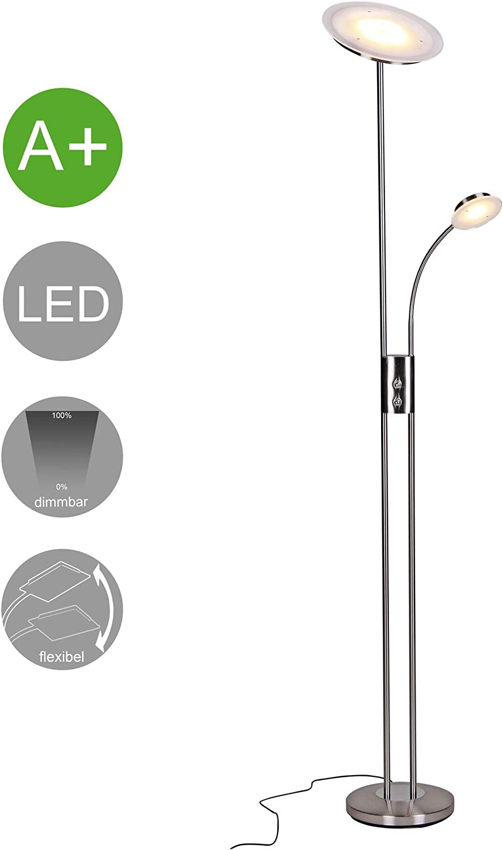 FineBuy LED Deckenfluter mit Leselampe rund (EEK  A+)