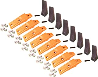 8 - Bobcat Style Skid Steer Bucket Teeth w Bolt On Shanks, Pins, Hardware