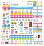 bloom daily planners New Teacher Planner Sticker Pack - School Themed Planning Sticker Sheets for Educators, Homeschoolers, etc.- 8 Sheets/586 Stickers per Pack!