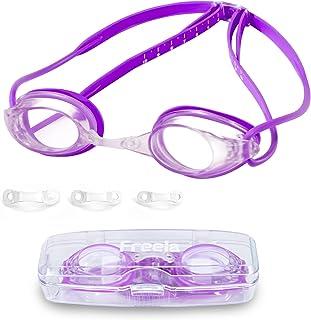 Freela Swimming Goggles for Adult Youth, Anti-Fog UV...