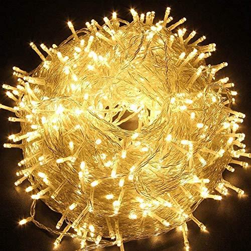 Quntis Guirlande Lumineuses 100M 500 LEDs Etanche en Basse Pression, 8 Modes ,Blanc Chaude