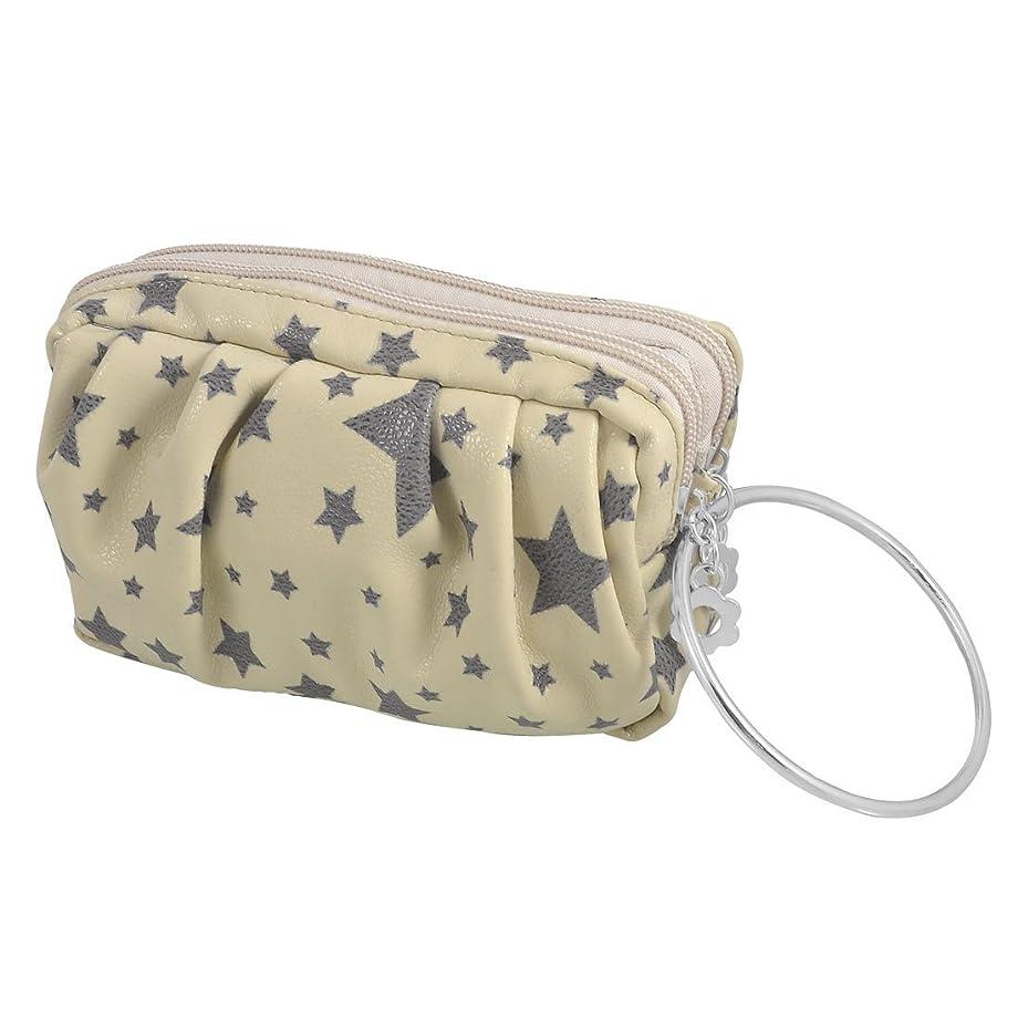 ミシン目神社独特のuxcell 財布 小銭入れ ウォレット グレー 人工皮革 ハンドバッグ ベージュ