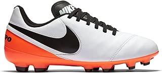 Jr Tiempo Legend VI FG Shoes Cleats (2) White/Black/Total Orange