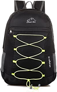 Packable Handy Lightweight Foldable Outdoor Travel Daypack Backpack (Black)