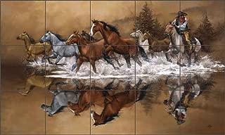 western tile murals