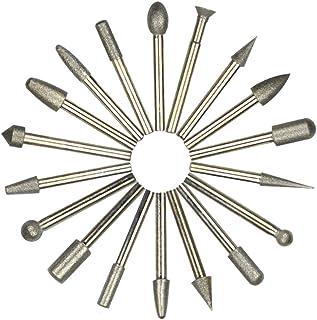 ASNOMY 20 pezzi Frese Diamante Set - 180 Grana Set Punte Diamantate con 6mm Gambo/Accessori, set di punte da trapano per U...