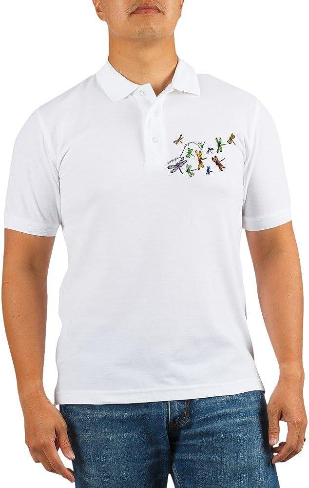 San Francisco Mall Royal Lion Golf Shirt Dragonflies Gossamer on Wings Glide Fashion