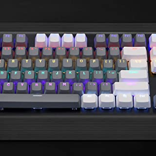 Bossi 104 PBT Keycaps Set | MX Switches Backlit Keycaps and Keycaps Puller(White + Gray)
