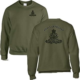 Double Printed Royal Artillery (RA) Olive Green Sweatshirt