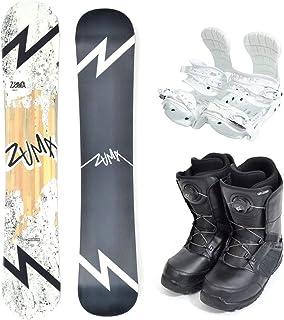 ZUMA (ツマ) メンズ スノーボード 3点セット 板 ボード バインディング ブーツ JOKER white 初心者 zuma-set-f