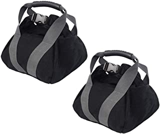 2-Pack Adjustable Canvas Kettlebell Sandbag - wtih Handle for Training Home Training, Yoga, Fitness