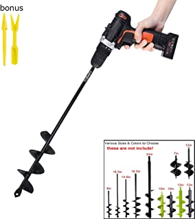TCBWFY Auger Drill Bit 1.8×14.6inch Garden Plant Flower Bulb Auger Rapid Planter..