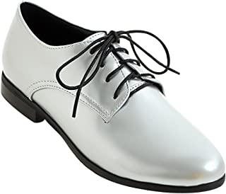 b1ea02ae45b Amazon.com  Silver - Oxfords   Shoes  Clothing