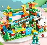 WAWAYU Bloque de Madera, Compatible con partículas Grandes Que golpean los Bloques de Diapositivas de Bola de Piano, niño y niña, Juguetes para niños creativos.
