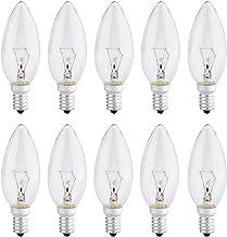 10 Stuks Kleine Schroefkaarslampen 40 Watt Heldere Edison Schroef in Lamp SES / e14, 240V, door Brightfour