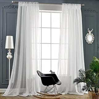 Empire Home Extra Long Window Sheer Curtain Panel - 54