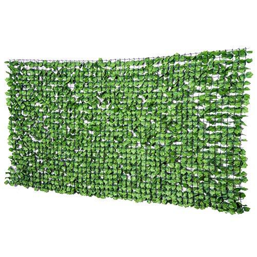 Outsunny Künstliche Hecke Sichtschutzhecke Terrasse Wanddekoration Wanddekoration Hellgrün 300 x 150 cm