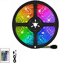LED Strip Lights Decoration Lighting RGB Waterproof Rope Light with 24 Key Remote Control Color Changing for Indoor Bedroo...