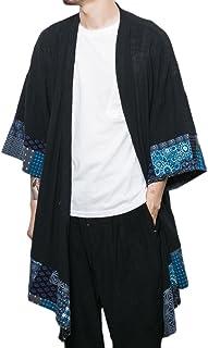 Idopy Men`s Vintage Cotton Linen Cloak Poncho Cape Coat Cardigan