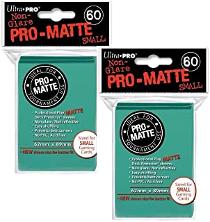 Ultra Pro Pro-Matte Small (120Count) Aqua Deck Protector Sleeves - YuGiOh